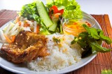 Bruchreis mit Hühnerfleisch vom Grill